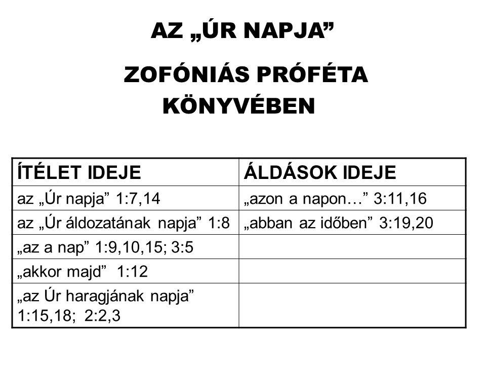 ZOFÓNIÁS PRÓFÉTA KÖNYVÉBEN