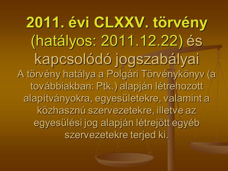 2011. évi CLXXV. törvény (hatályos: 2011. 12
