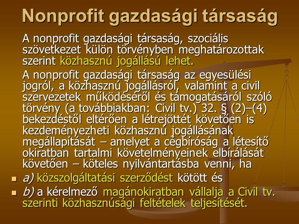 Nonprofit gazdasági társaság