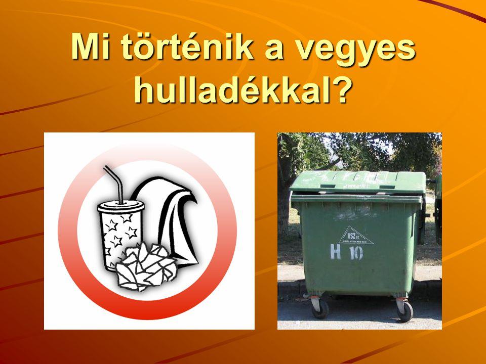 Mi történik a vegyes hulladékkal