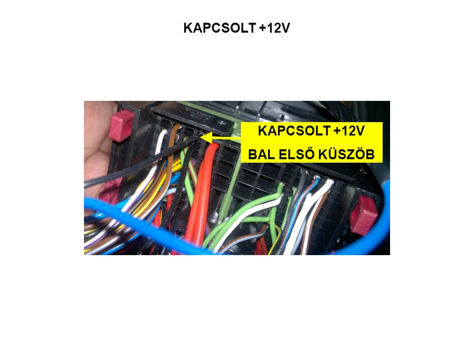 KAPCSOLT +12V KAPCSOLT +12V BAL ELSŐ KÜSZÖB