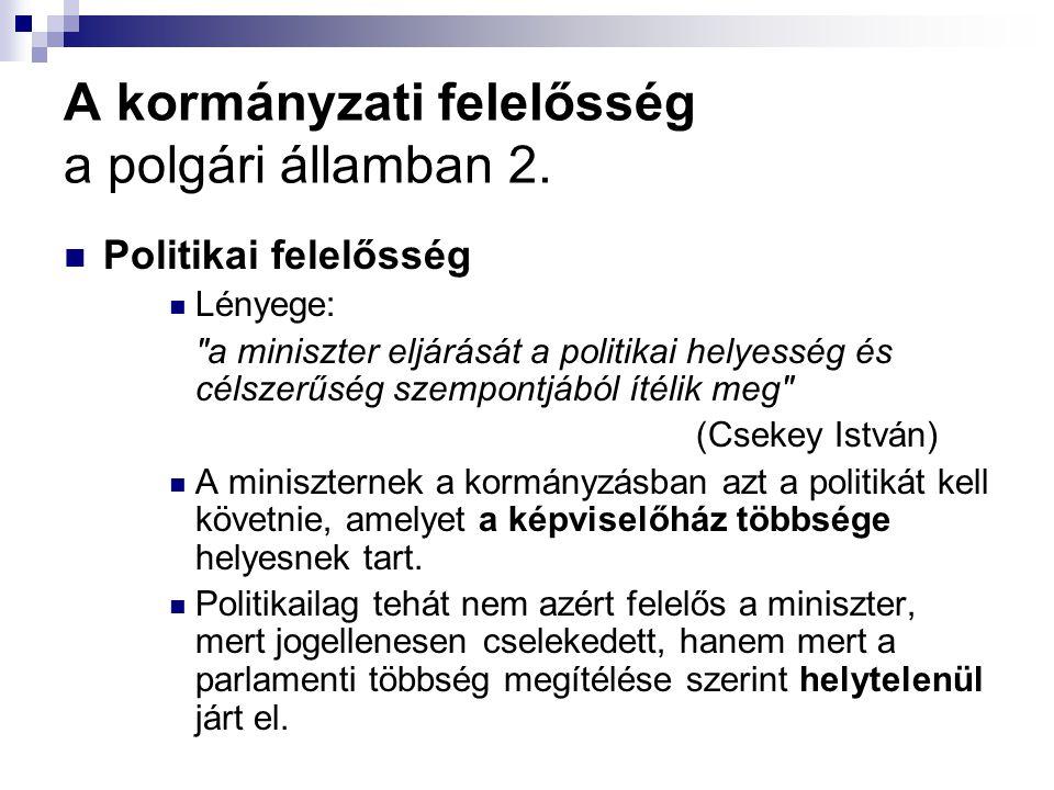 A kormányzati felelősség a polgári államban 2.
