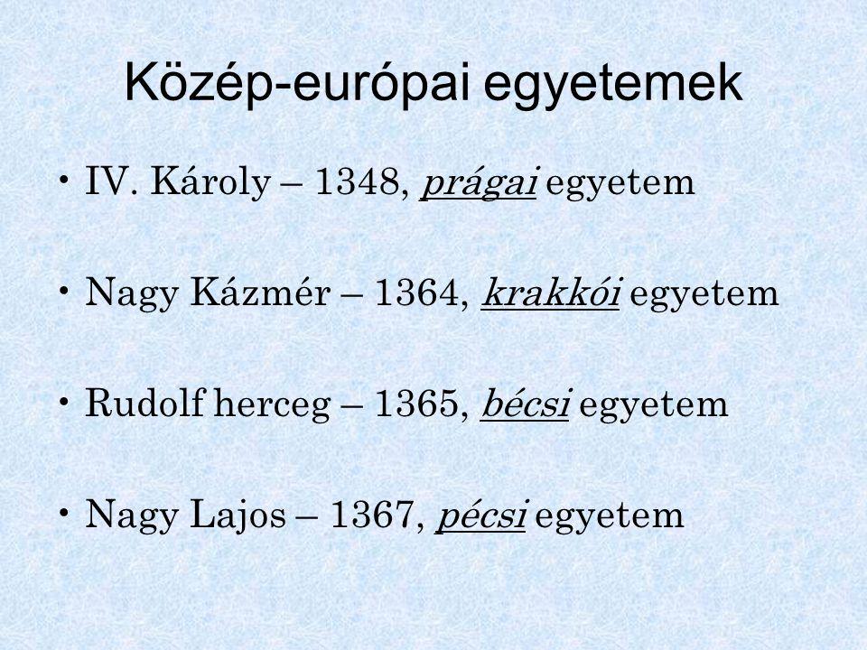Közép-európai egyetemek