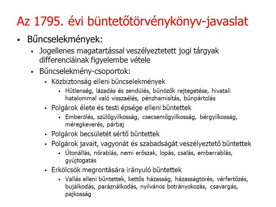 Az 1795. évi büntetőtörvénykönyv-javaslat