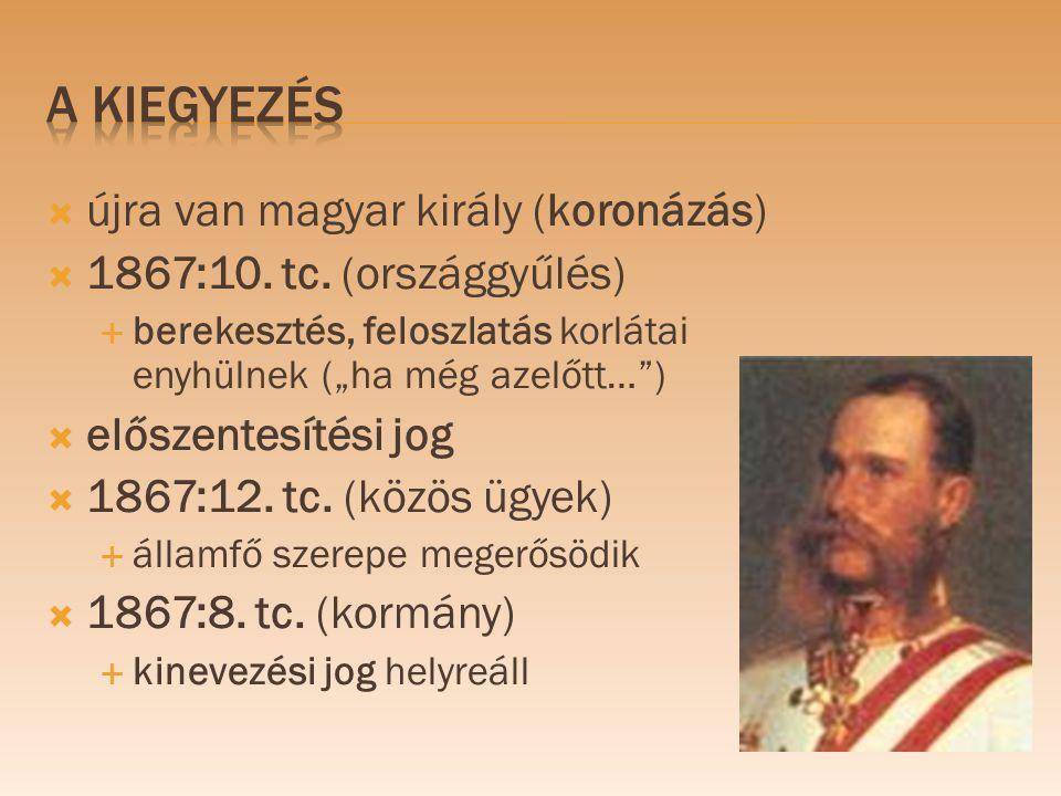A KIEGYEZÉs újra van magyar király (koronázás)