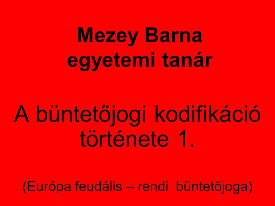 Mezey Barna egyetemi tanár