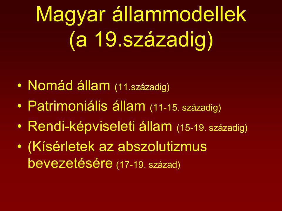 Magyar állammodellek (a 19.századig)