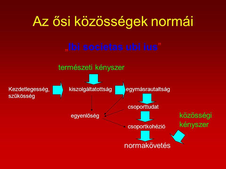 Az ősi közösségek normái