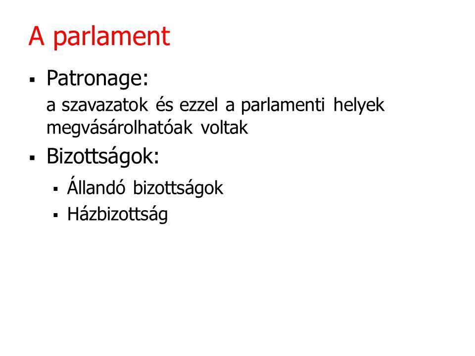 A parlament Patronage: