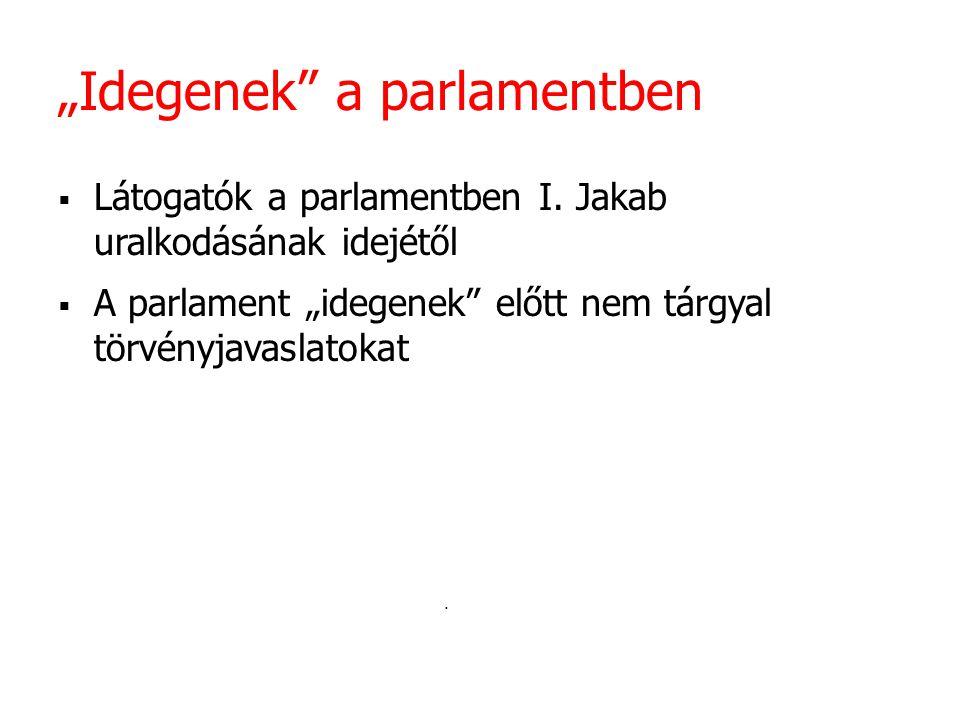 """Idegenek a parlamentben"