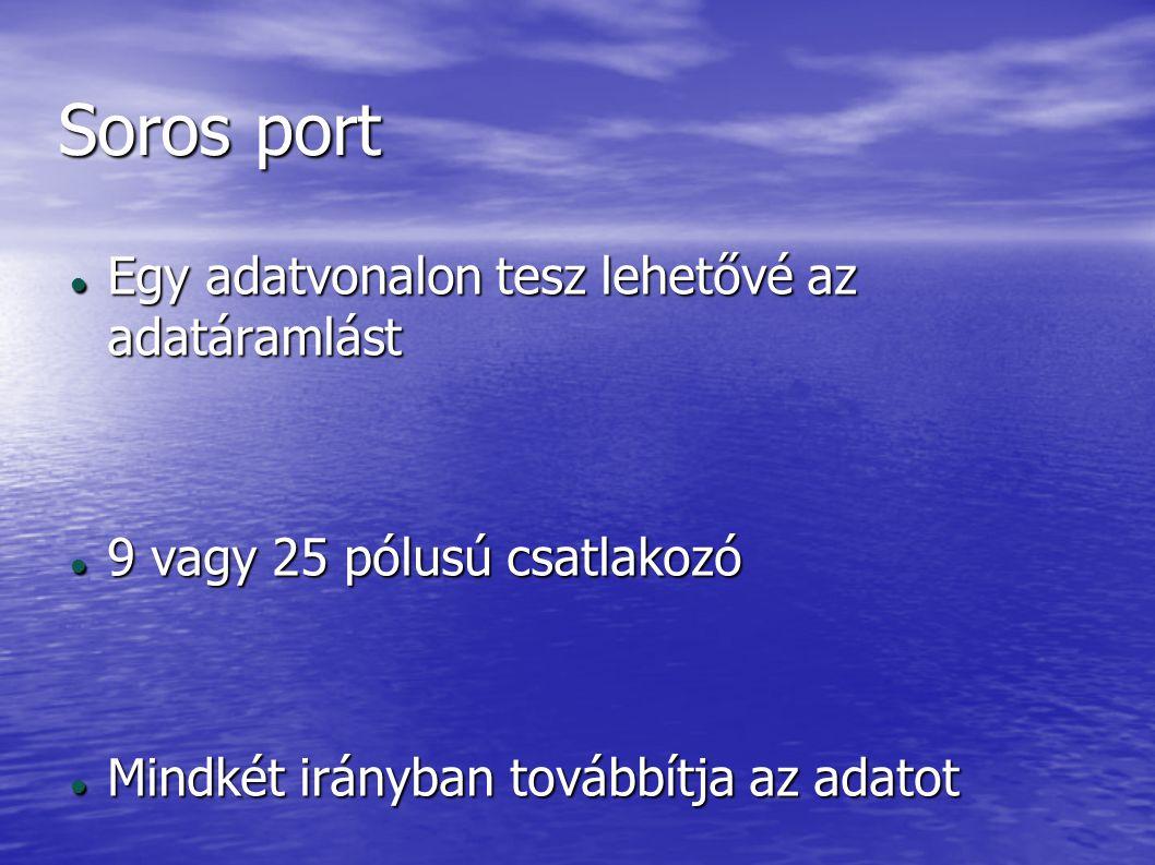 Soros port Egy adatvonalon tesz lehetővé az adatáramlást