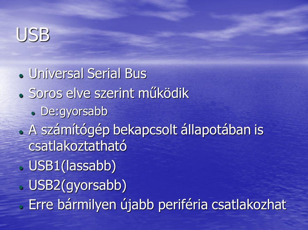 USB Universal Serial Bus Soros elve szerint működik