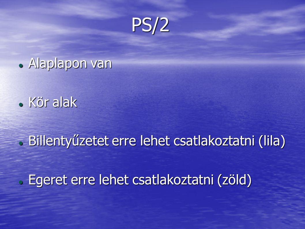 PS/2 Alaplapon van Kör alak