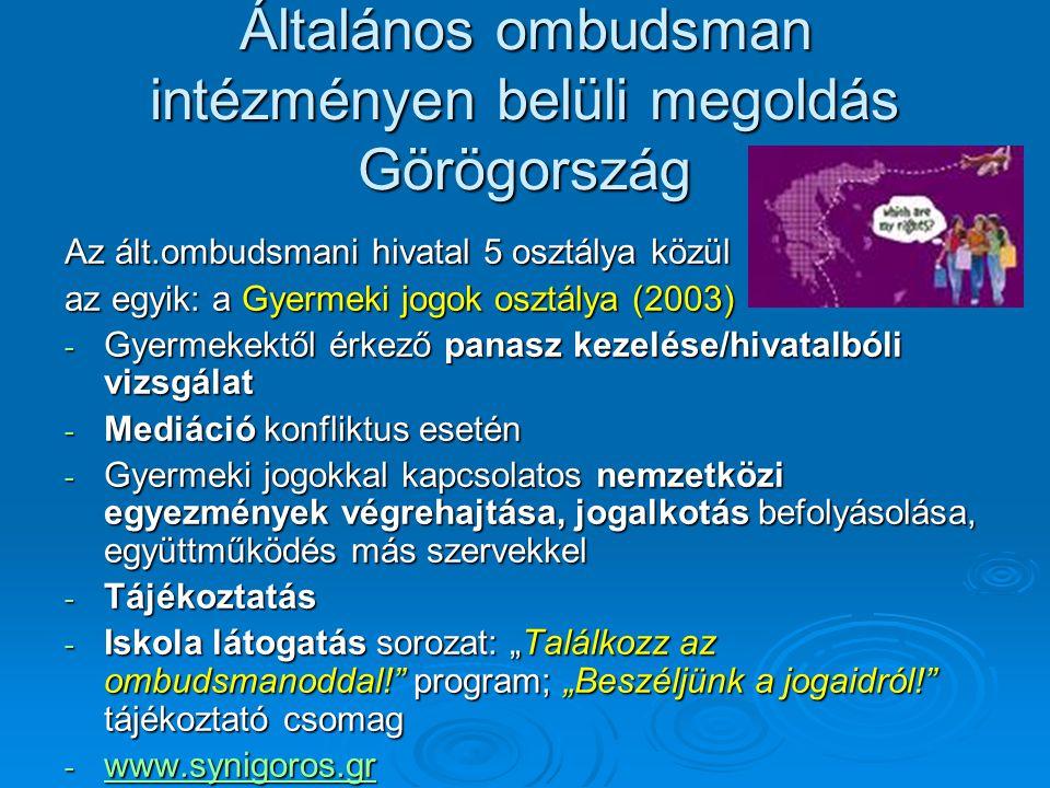 Általános ombudsman intézményen belüli megoldás Görögország