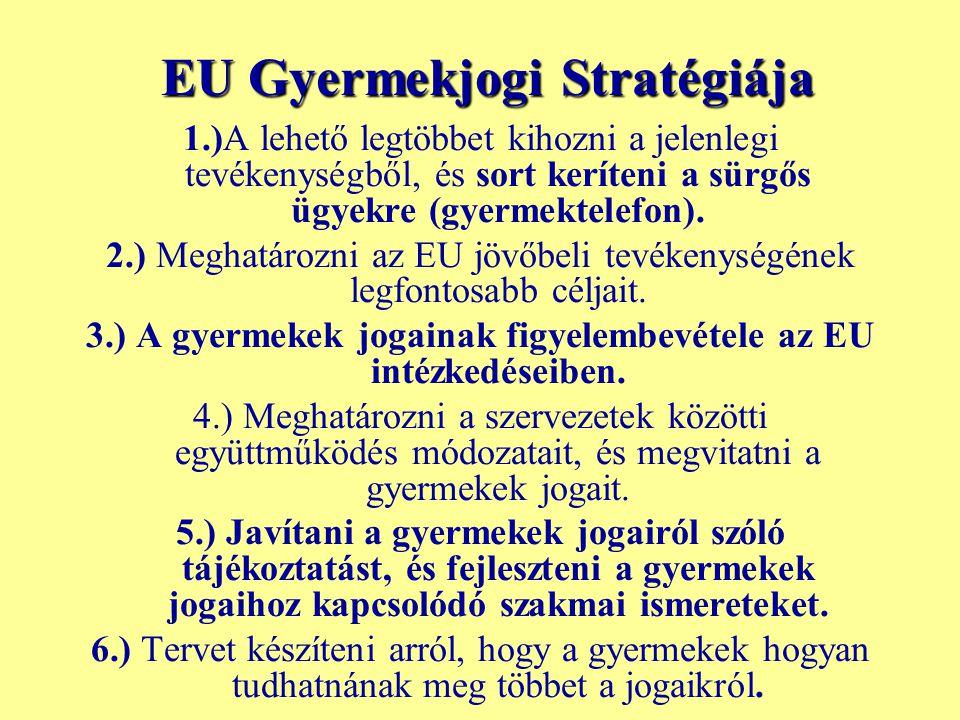 EU Gyermekjogi Stratégiája