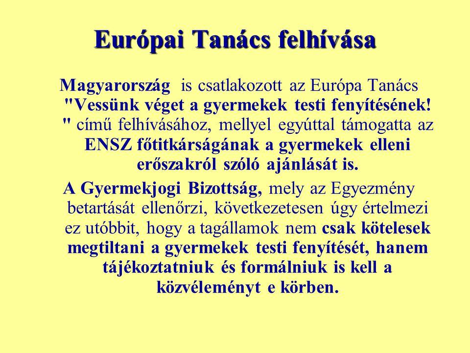 Európai Tanács felhívása