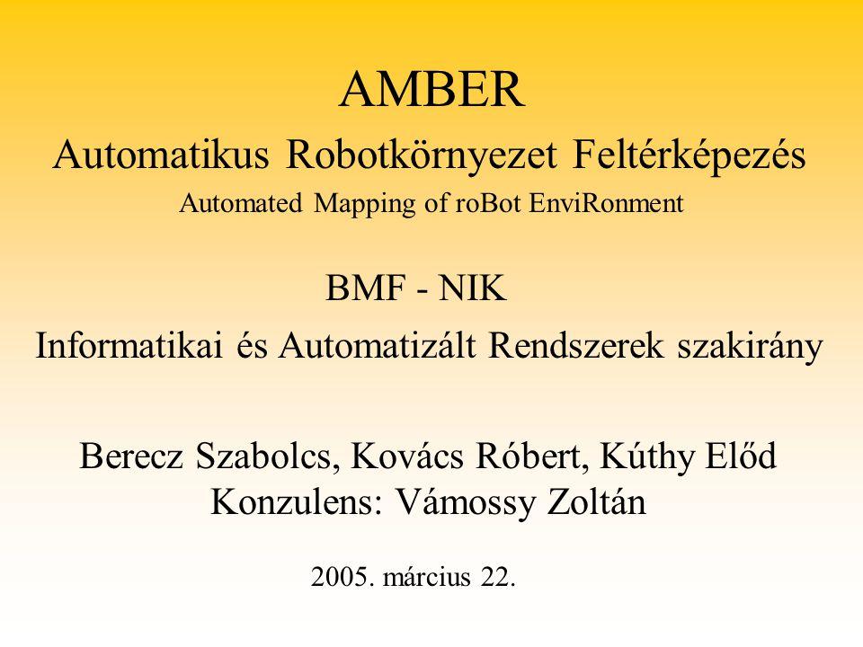 AMBER Automatikus Robotkörnyezet Feltérképezés BMF - NIK
