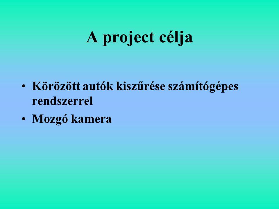 A project célja Körözött autók kiszűrése számítógépes rendszerrel