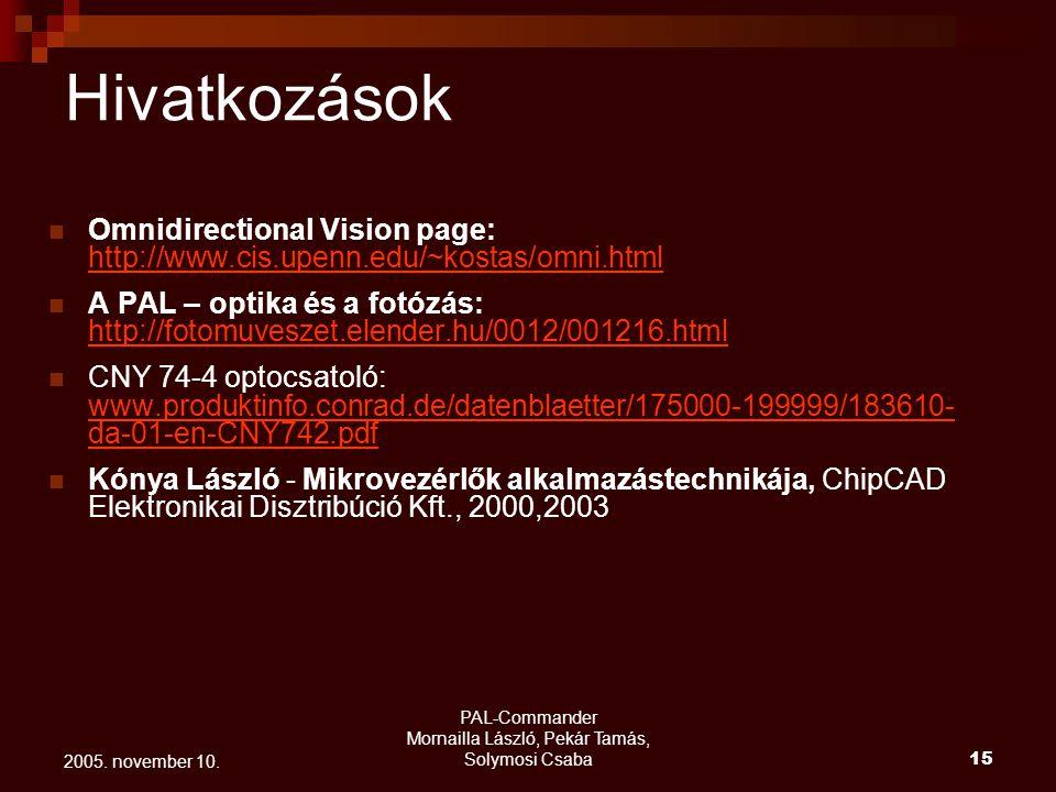 PAL-Commander Mornailla László, Pekár Tamás, Solymosi Csaba