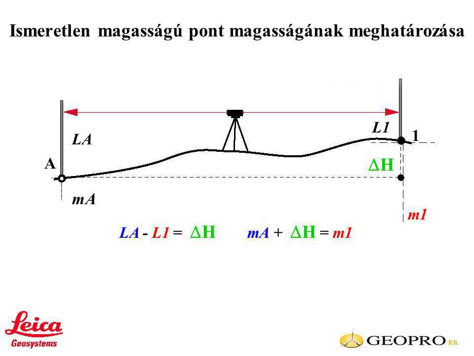 Ismeretlen magasságú pont magasságának meghatározása