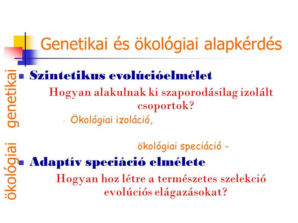 Genetikai és ökológiai alapkérdés