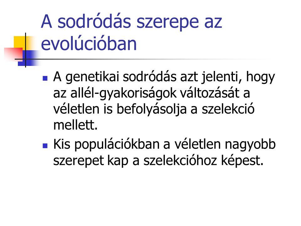 A sodródás szerepe az evolúcióban