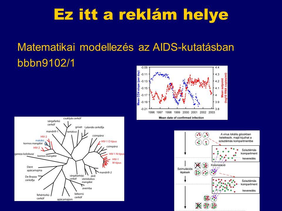 Ez itt a reklám helye Matematikai modellezés az AIDS-kutatásban