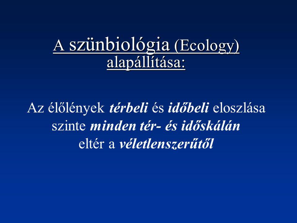 A szünbiológia (Ecology) alapállítása: