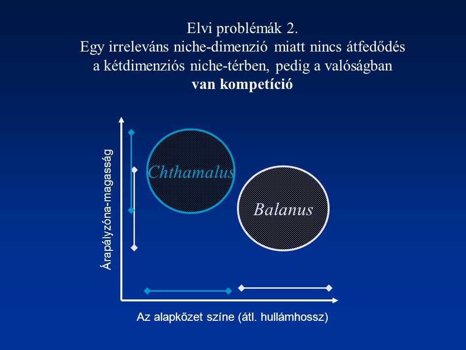 Chthamalus Balanus Elvi problémák 2.