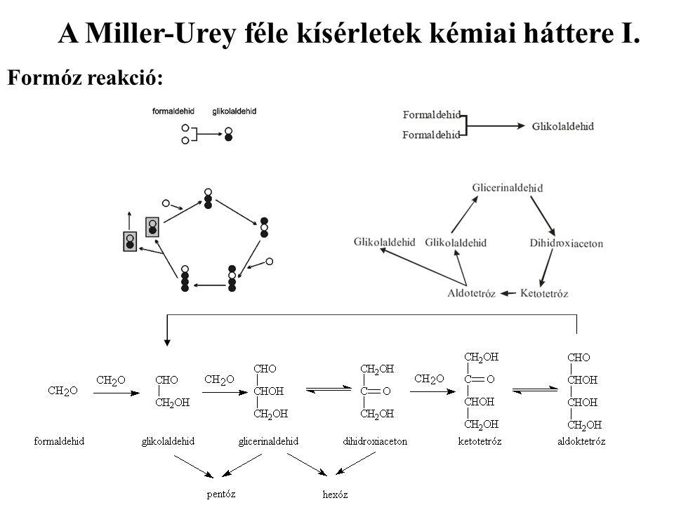 A Miller-Urey féle kísérletek kémiai háttere I.