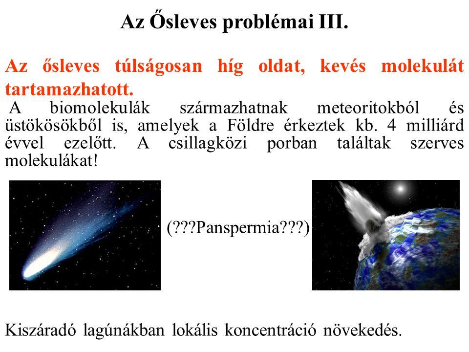 Az Ősleves problémai III.