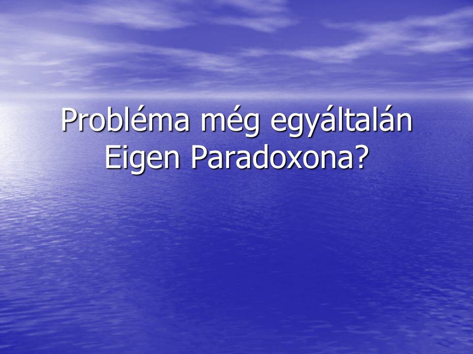 Probléma még egyáltalán Eigen Paradoxona