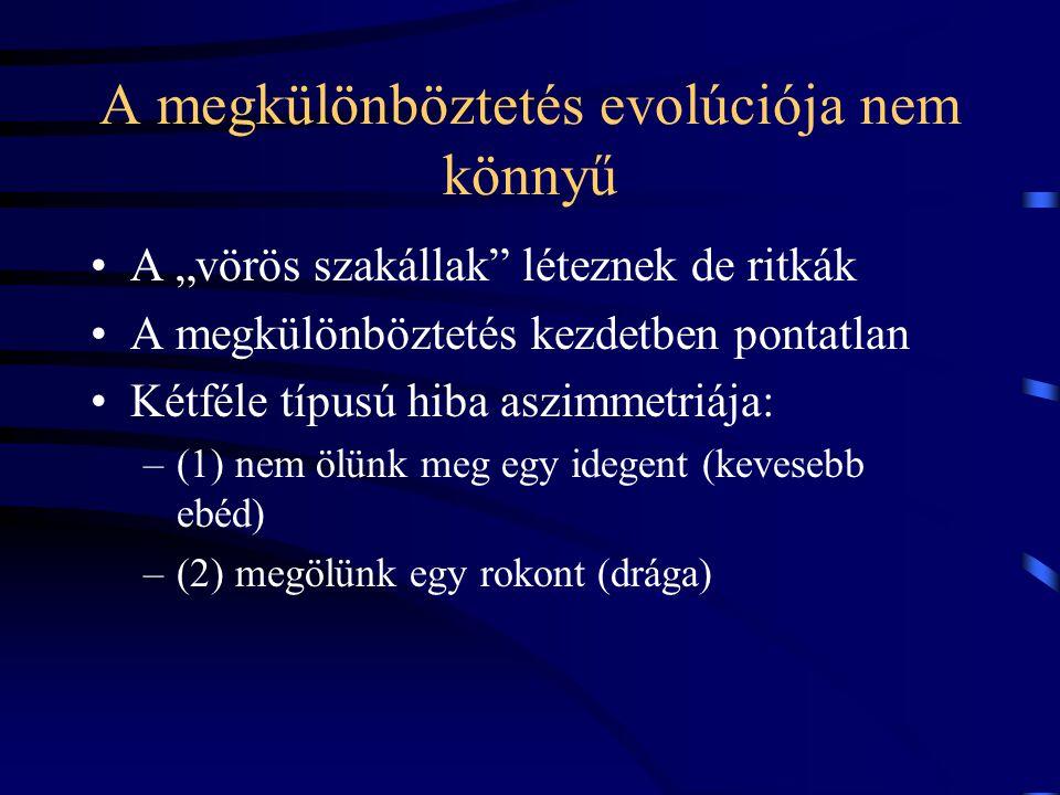 A megkülönböztetés evolúciója nem könnyű