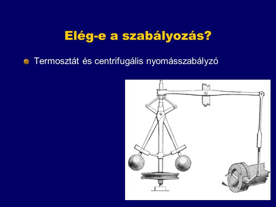 Elég-e a szabályozás Termosztát és centrifugális nyomásszabályzó