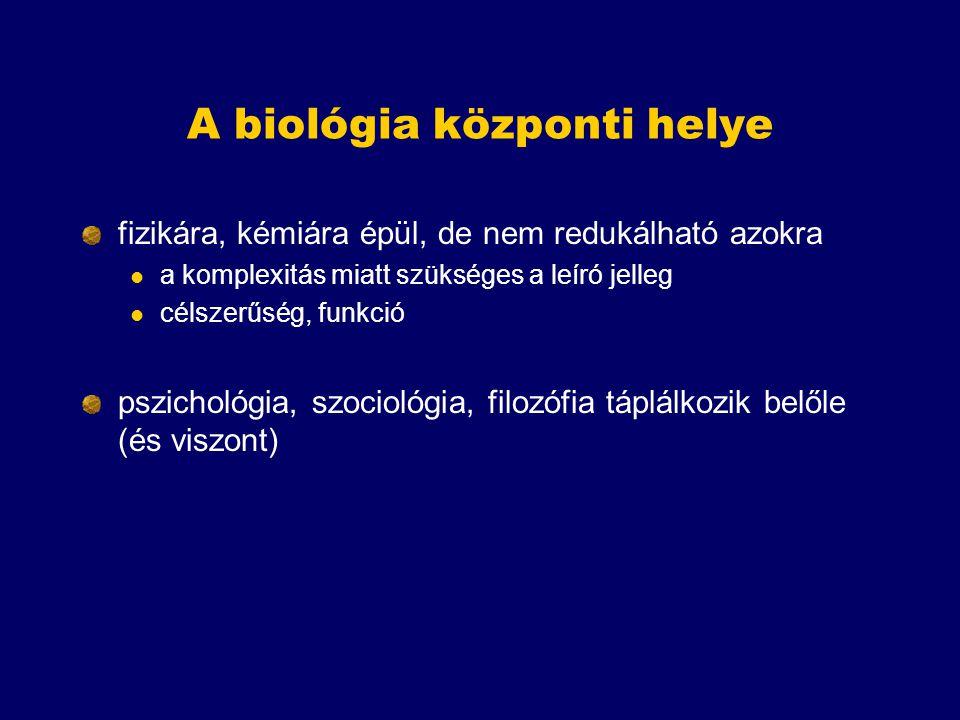 A biológia központi helye