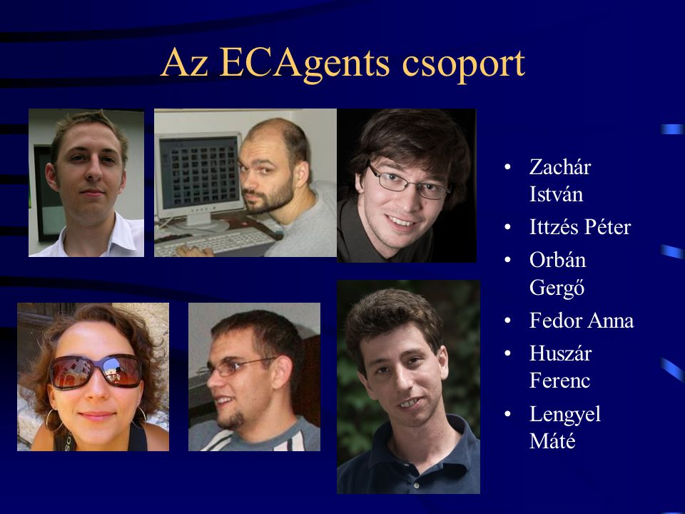Az ECAgents csoport Zachár István Ittzés Péter Orbán Gergő Fedor Anna