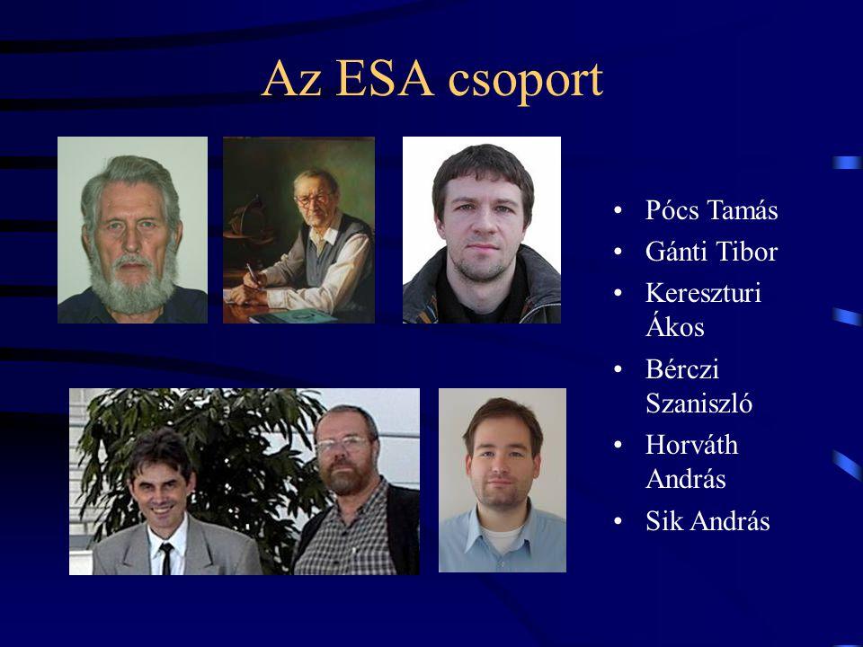 Az ESA csoport Pócs Tamás Gánti Tibor Kereszturi Ákos Bérczi Szaniszló