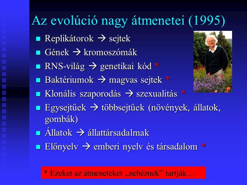Az evolúció nagy átmenetei (1995)