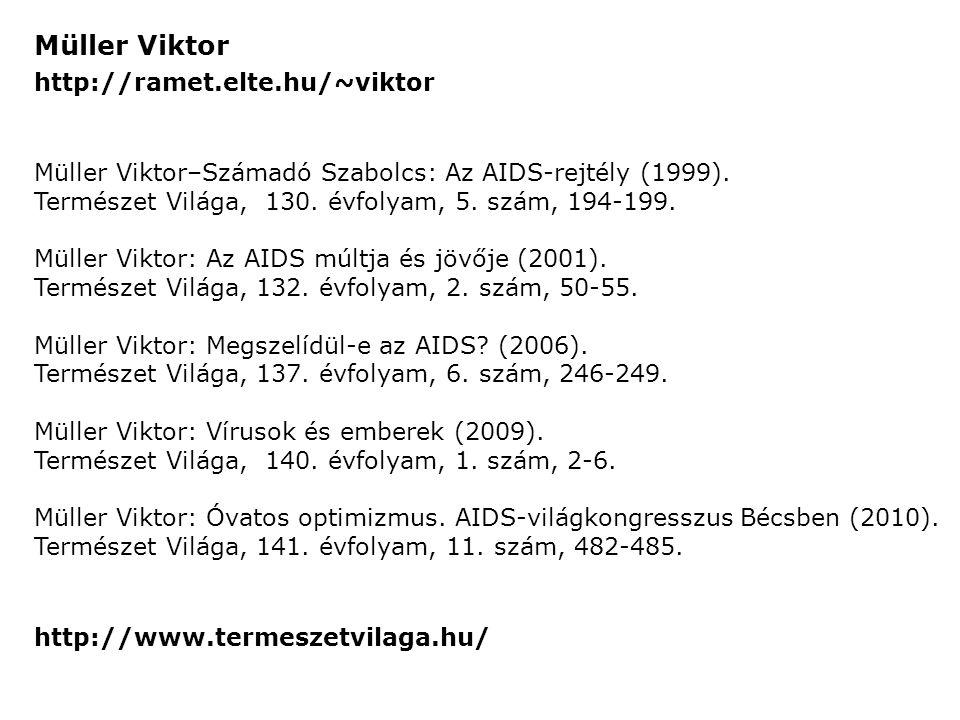 Müller Viktor http://ramet.elte.hu/~viktor