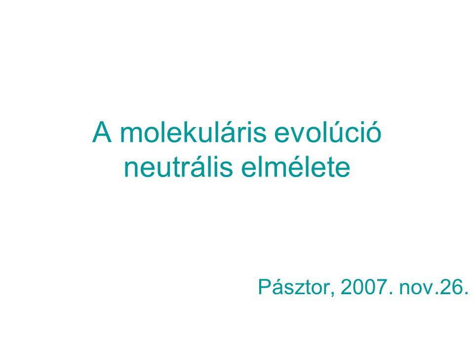 A molekuláris evolúció neutrális elmélete