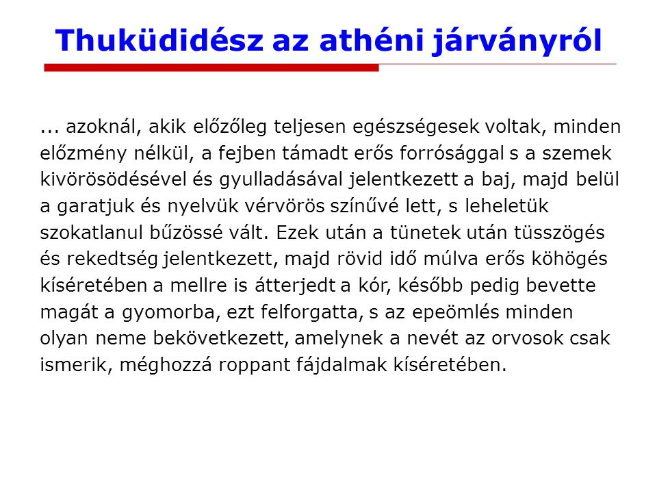 Thuküdidész az athéni járványról