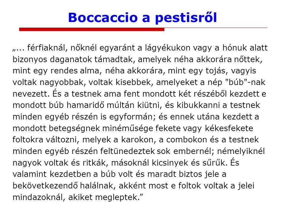 Boccaccio a pestisről