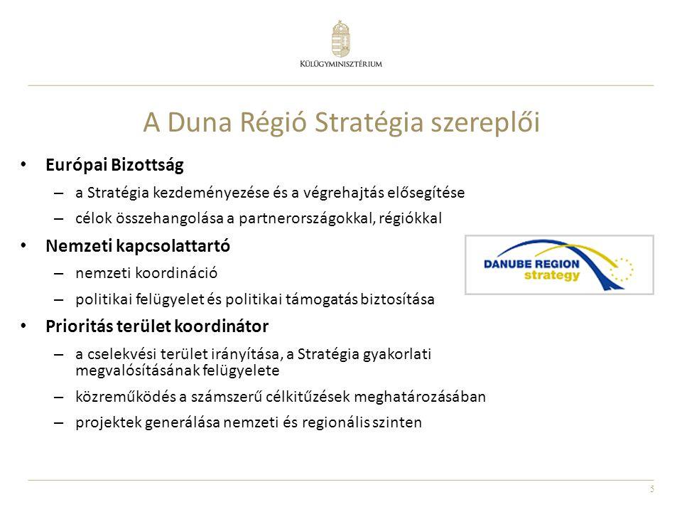 A Duna Régió Stratégia szereplői