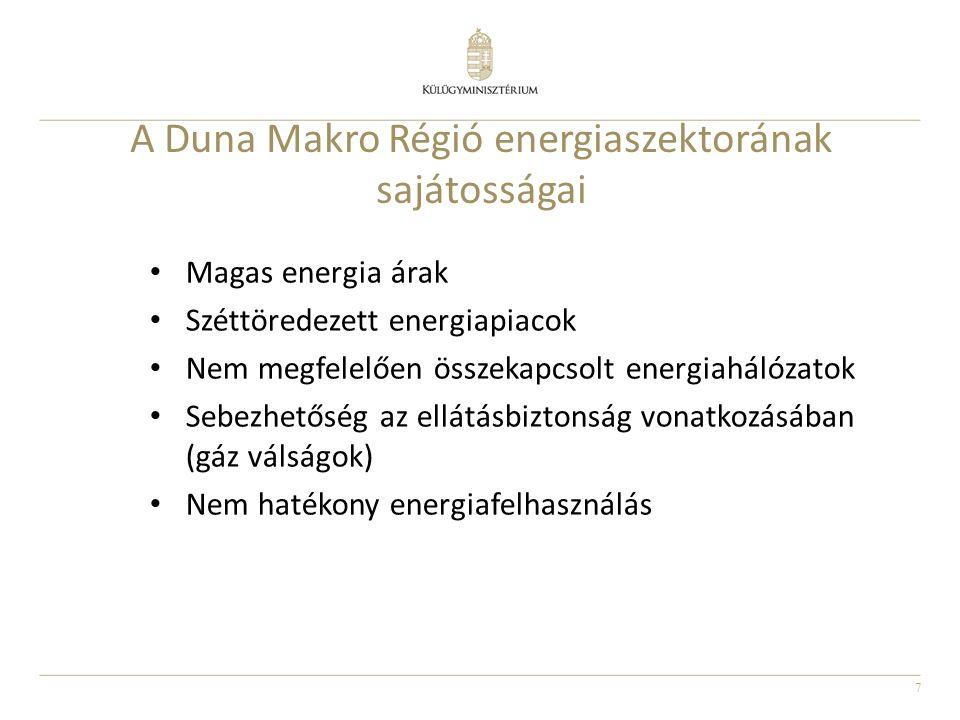 A Duna Makro Régió energiaszektorának sajátosságai