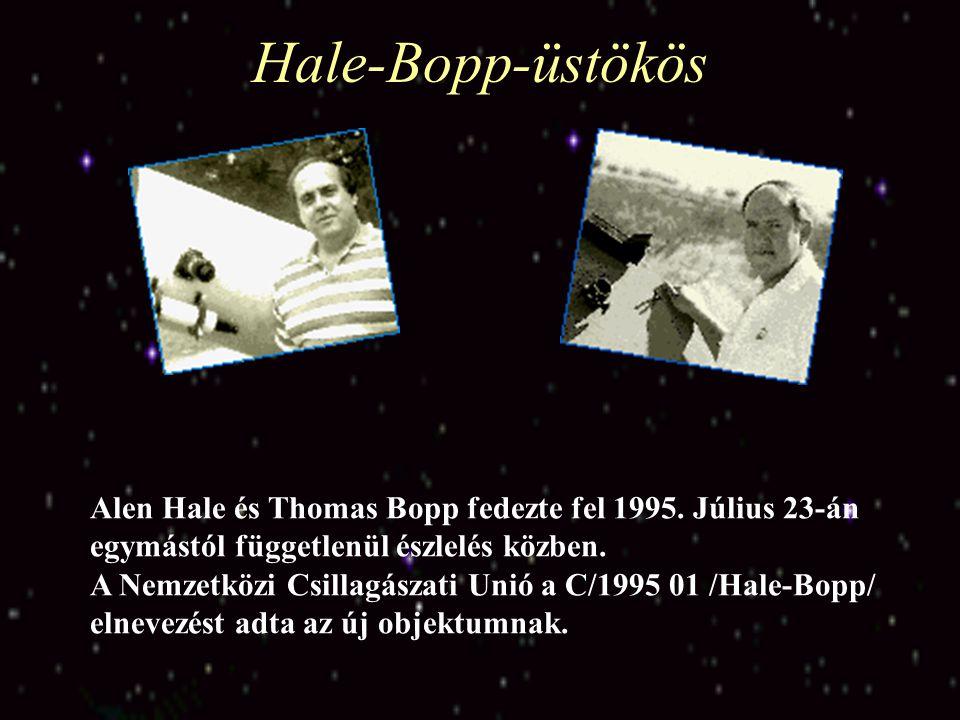 Hale-Bopp-üstökös Alen Hale és Thomas Bopp fedezte fel 1995. Július 23-án egymástól függetlenül észlelés közben.