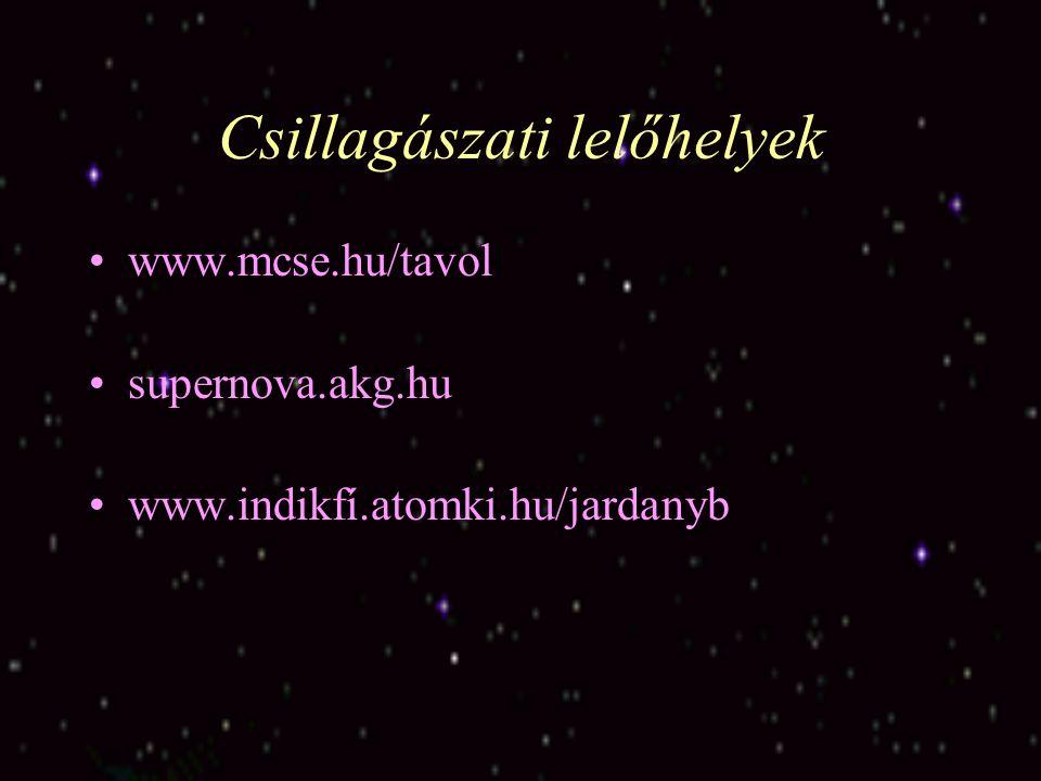 Csillagászati lelőhelyek