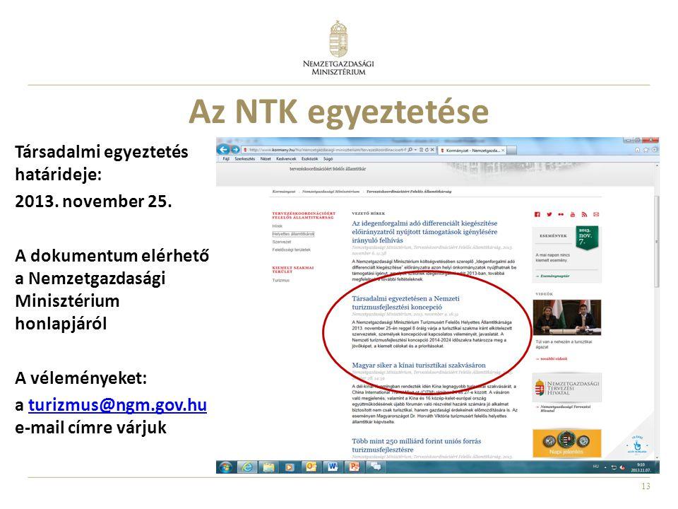 Az NTK egyeztetése