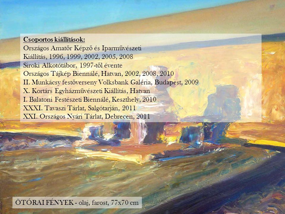 Csoportos kiállítások: