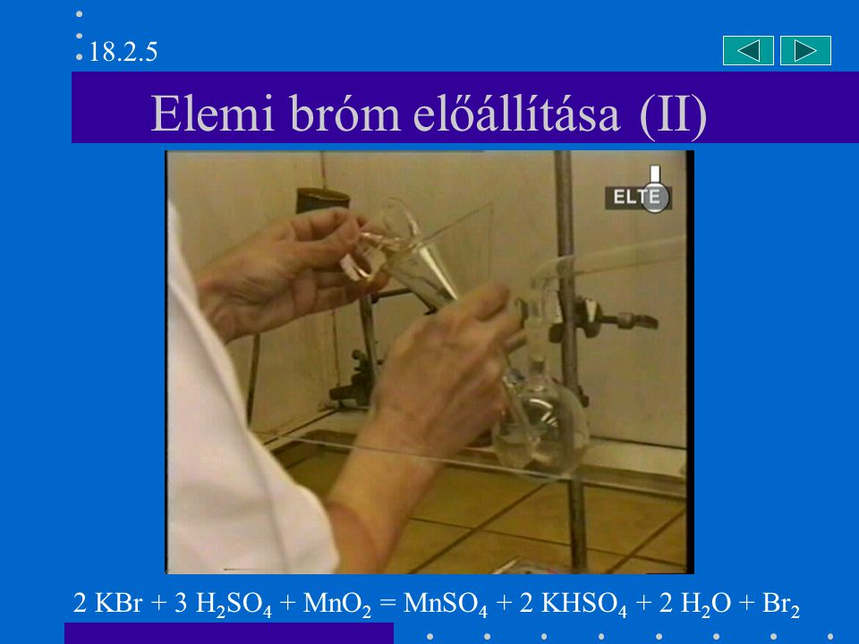 Elemi bróm előállítása (II)