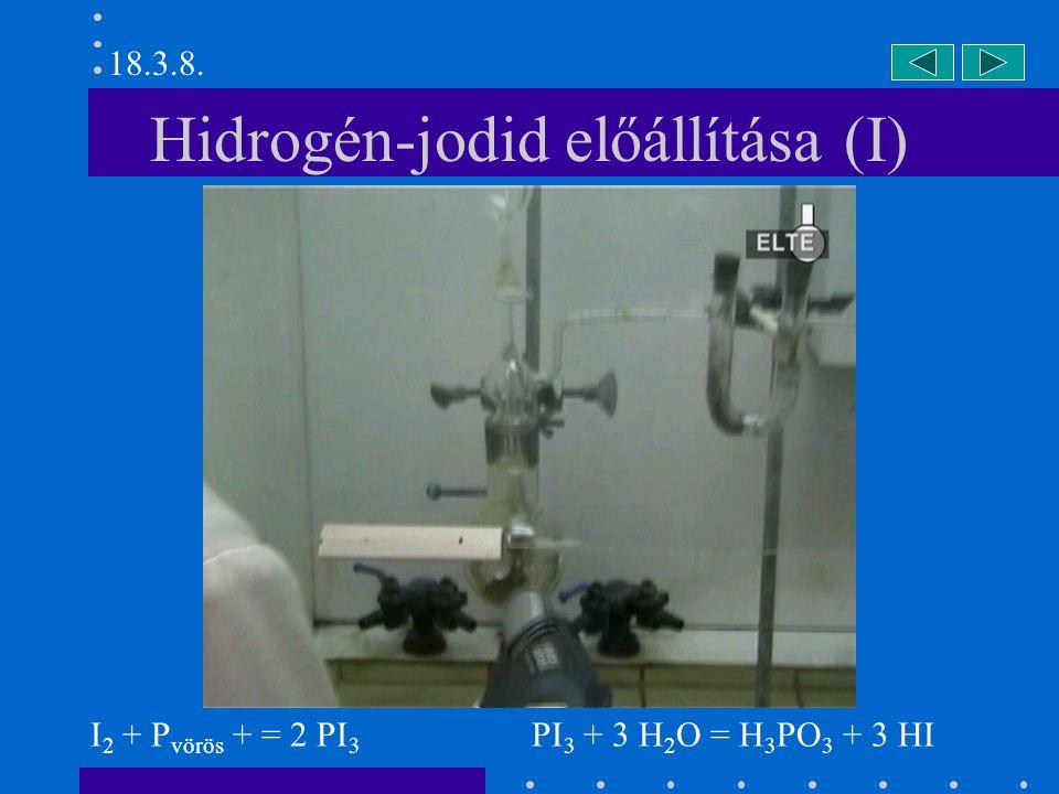 Hidrogén-jodid előállítása (I)